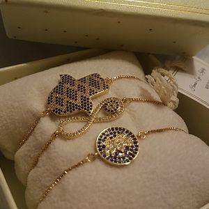 Eye candy set of 3 bracelets golden New in box